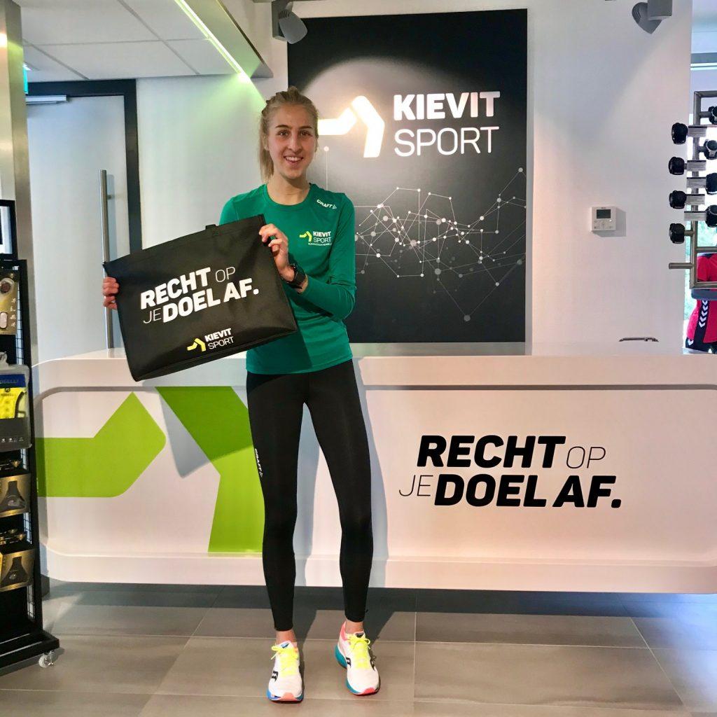 Renee Sijbesma van het Kievit Sport Running Team.
