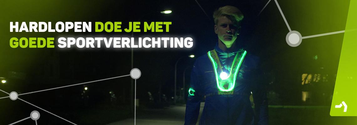 Hardloopverlichting scoor je bij Kievit Sport. Laat je (zelf) zien!